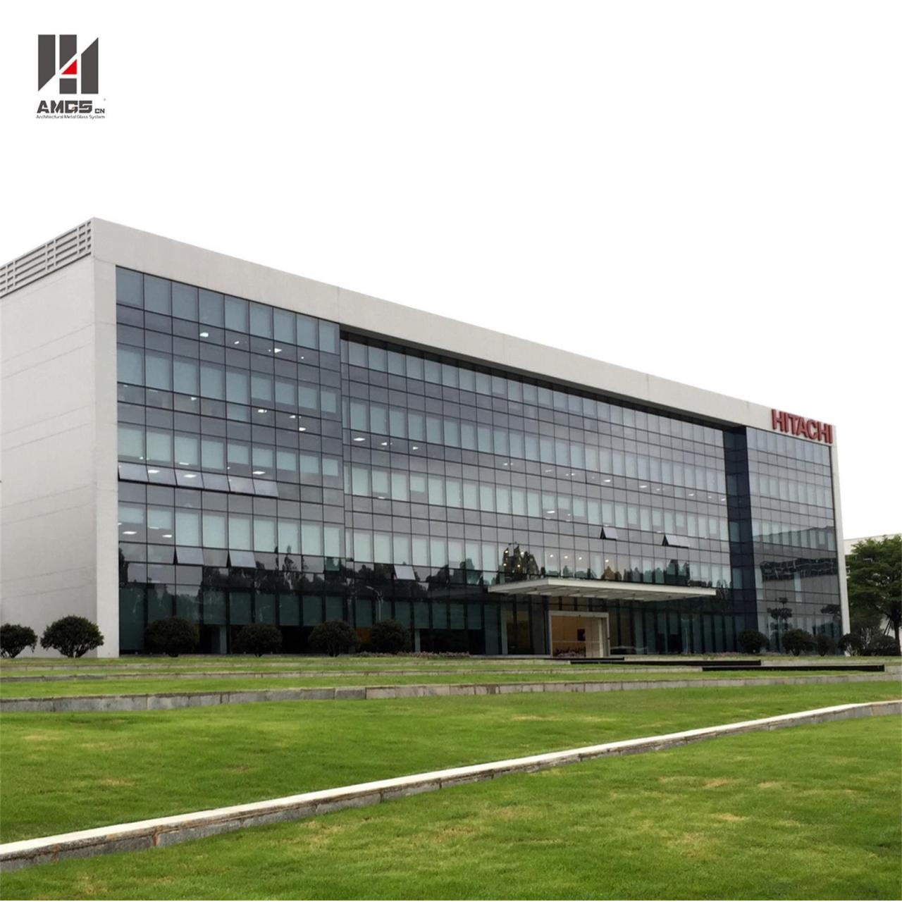 Wholesale Moden Architecture Exterior Facade Reflective Toughened Glass Curtain Wall from china suppliers