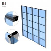 Wholesale Building Facade Glass Panel Aluminum Glass Curtain Wall Manufacturer from china suppliers