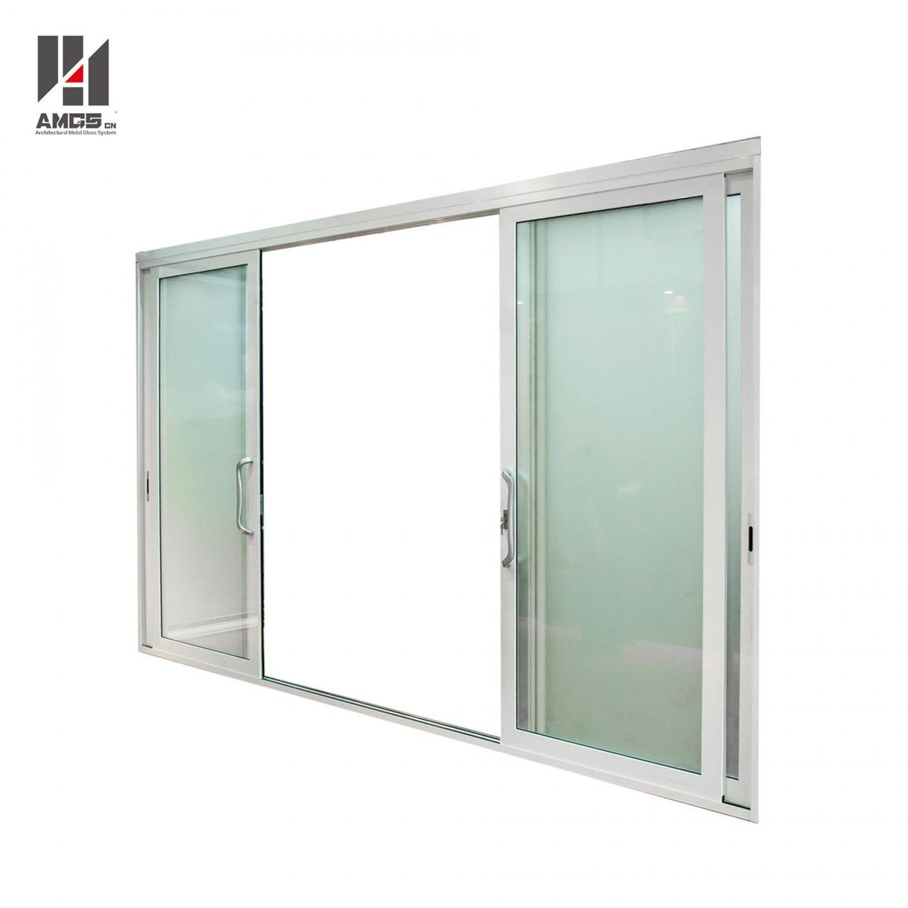 Wholesale White Aluminium Sliding Door With Single Or Double Glazing from china suppliers