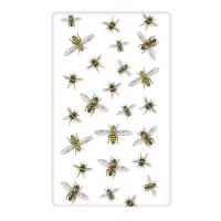 China Scattered Bees Flour Sack Kitchen Towel on sale