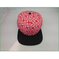 Wholesale Snapback hats BC-012 High quality flat brim 5 panel snapback cap with heat transfer printing from china suppliers