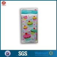 China Colorful Cupcakes Cellophane Treat Bags With Twist Ties on sale