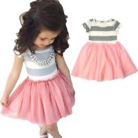 Wholesale Unique grey joint pink grenadine baby girl birthday dresses from china suppliers