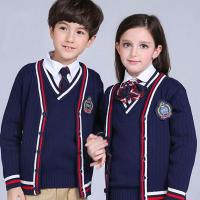 Wholesale High quality OEM uniform cable knitting fashion british style junior school uniform from china suppliers
