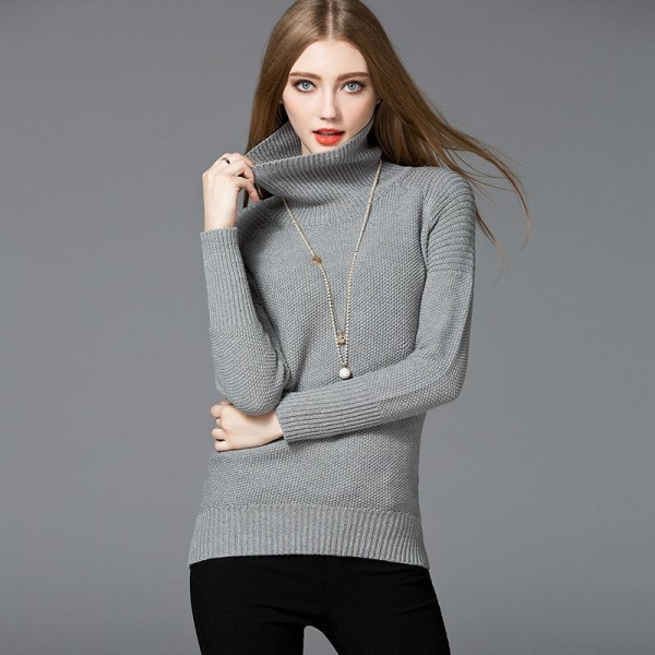 Quality High quality winter sweater 2018 new design turtleneck warm sweater pullover for girls for sale