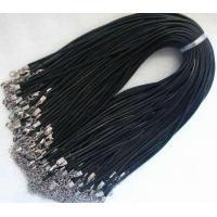 China 100pcs waxed robbin silk jewelry pendant 2mm black cords with clasp for necklace cord2 on sale