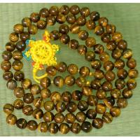 Wholesale 108 Natural Tiger Eye Gem 0.3inch Bead Buddhist Prayer Mala from china suppliers