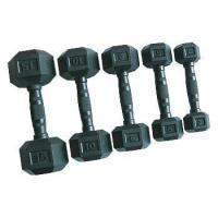 Wholesale black rubber dumbbell from china suppliers