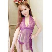 Wholesale Sexy Wear/Lingerie Sexy Wear - SEE-THROUGH LACE SEXY SET (1025) PURPLE from china suppliers