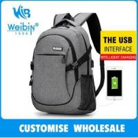 factory price fancy fashion newest backpack with charging port