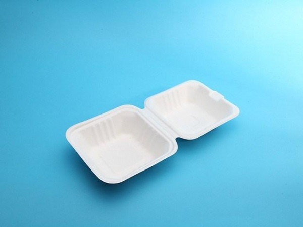 Quality takeaway biodegradable food packaging 6in clamshell for sale