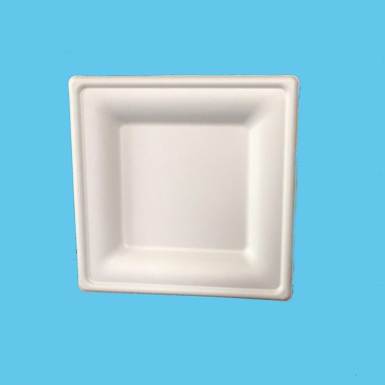 "Wholesale bagasse fiber 6"" square plate from china suppliers"