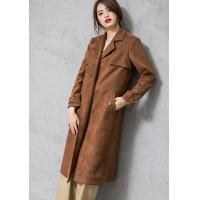 Wholesale Lafoppa Women Suede Dust Coat from china suppliers