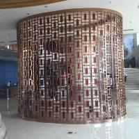 Wholesale steel rose gold welding partition grid, Chinese classical black mirror steel screen from china suppliers