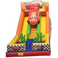 Wholesale Giant Indoor Double Lane fighting cars theme inflatable slide/ dry slide for kids from china suppliers