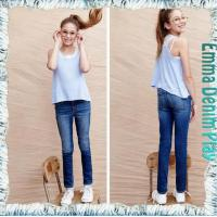 Wholesale Girl's Light Blue Customized Design Jeans Wholesale Price from china suppliers