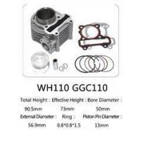 China WH110 85mm Total Height Motorcycle Cylinder Kit , 110cc Cylinder Repair Kit on sale