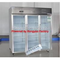 3 door glass door fridge storage cabinet fridg, refrigerated cabinet