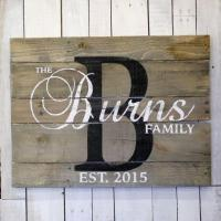 Wooden Last Name Signs