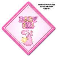 Wholesale Baby Girl On Board Pink Sling Car Sign from china suppliers
