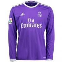 China Adidas Real Madrid Away '16-'17 Long Sleeve Soccer Jersey (Purple/White) on sale