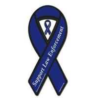 Bumper Stickers Support Law Enforcement Blue Ribbon Magnet