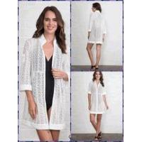 Wholesale Simply Noelle swimsuit cover-up jacket top Size S to XXL white, black, or harbor blue from china suppliers