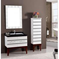 Wholesale Luxury Design Black And White With Square Frame Mirror Washroom Cabinet For Hotel Project from china suppliers