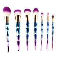 Wholesale Beauty kit Colorful Diamond Makeup Brush Set 7PCS Rainbow Synthetic Makeup Brushes from china suppliers