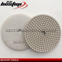 China 6 Inch White Bond Angle Grinder Diamond Buffing Pad for Polishing on sale