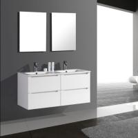 Buy cheap White Painting Big Vanity Two Piece Bathoom Mirrors from wholesalers