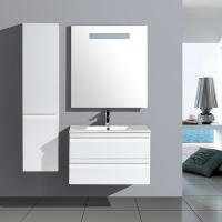 Buy cheap White Bathroom Vanity with LED Mirror and Side Cabinet from wholesalers