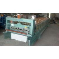 Industrial Steel Roof Tile Roll Forming MachineWith Automatic SAJ Inverter