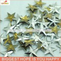 China SILVER COPPER GUN METAL COLOR 13*13MM STAR SHAPE HOTFIX METAL STUDS WHOLESALE on sale