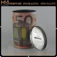 Buy cheap customized design round perfume tin can from wholesalers