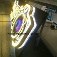 Wholesale Factory antique stainless steel backlit pizza shop sign from china suppliers
