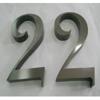 Wholesale custom stainless steel house number metal door sign from china suppliers