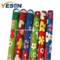 color coated wooden broom handle