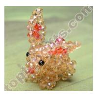 Wholesale rondelle crystal beaded long ear habbit 3D animal GIFTS from china suppliers