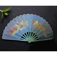 Wholesale Dragon & Phoenix Hand Fan (Blue) from china suppliers