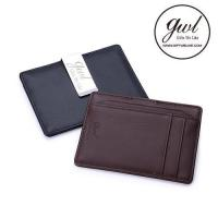 China Wallet Branding Genuine Leather Mini Wallet with Money Clip for Men on sale
