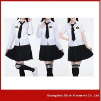 Wholesale Junior and senior girls high school uniforms suit vest shirt sports uniforms(U02) from china suppliers