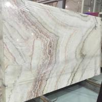 China Rainbow Design Natural Onyx Stone Slab From Chinese Supplier on sale