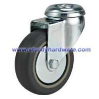 China Shopping Cart Caster Rubber on Polyolefin Wheel 5 x 1-1/4 on sale