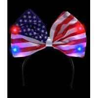 Wholesale LED USA Flag Bow Headband from china suppliers