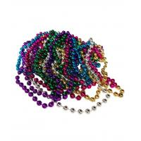 Wholesale 33 Inch 7mm Metallic Bead Necklaces - Assort 12ct from china suppliers