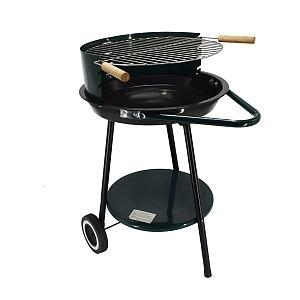 "Quality Garden Portable Charcoal Grill 18"" Trolley Patio Cooking for sale"