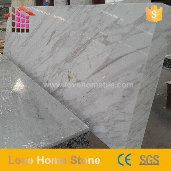 Quality Marble Volakas White Marble Countertop - Bathroom Marble Tile for sale