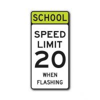 Buy cheap Construction Signs S5-1 School Speed Limit XX When Flashing (Variable) from wholesalers