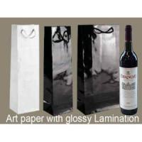 China Printed Luxury Bottle Gift Packaging Wine Paper Bag on sale